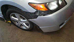 Accident's effect on a repaired car's value
